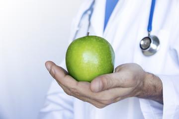 medico, dottore, mela, dieta, cura
