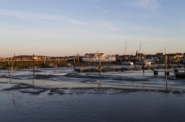 Juist Hafen bei Ebbe