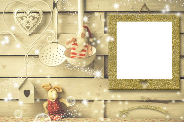 Christmas photo frames cards