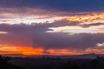Scenic Sundown Horizon Clouds Colors Landscape
