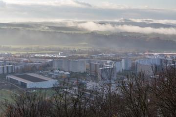 jena - Blick von der Lobdeburg - Morgennebel und Sonnenaufgang_2