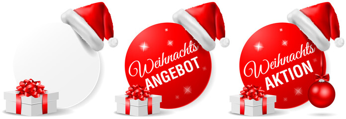Weihnachts Angebot Aktion Button Set
