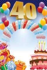 Fortieth birthday poster