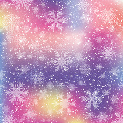 Colorful wallpaper snowflake - stock vector