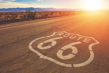 Canvas Prints Route 66 California Route 66 Mojave