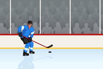 hockey player in rink