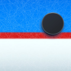 hockey puck on line