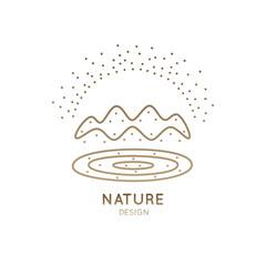 Logo mountain landscape