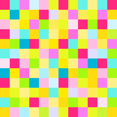 Seamless multicolored pattern. Abstract geometric wallpaper of the surface. Bright colors. Print for polygraphy, posters, t-shirts and textiles