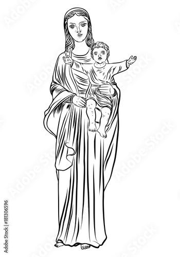 Virgin Mary Tattoo Art Symbol Of Christianity Religion Mother Of