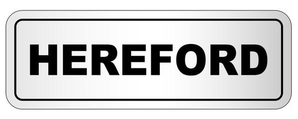 Hereford City Nameplate