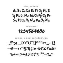Ink and Brush Latin Script