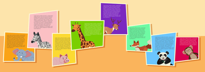 Background design with wild animals and text