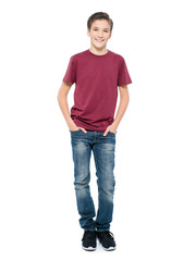 Photo of handsome teenage young guy