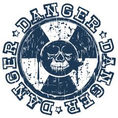 skull radioactivity danger