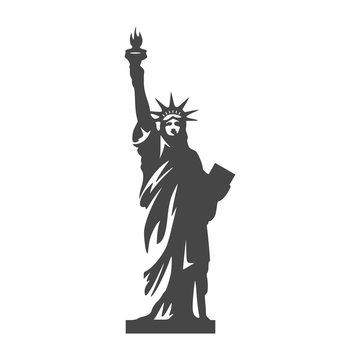 Statue of Liberty icon - Illustration