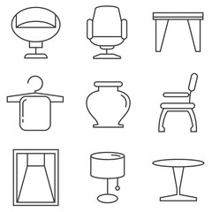furniture icons, home decor icons