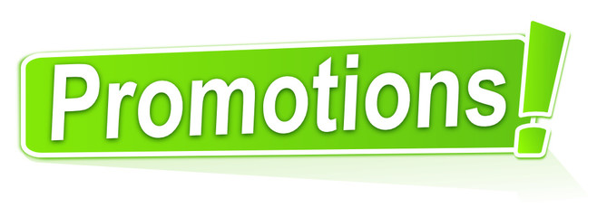 promotions sur étiquette verte