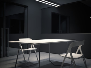 Room for interrogation. 3d rendering