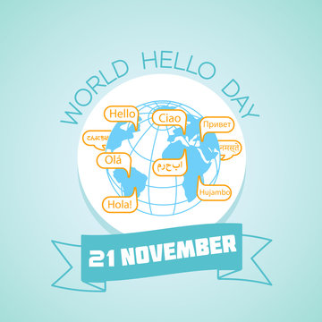 21 november  World Hello Day