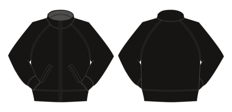 Illustration of jumper / training wear (black)