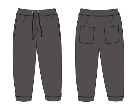 Illustration of Sweat Pants (chacoal)