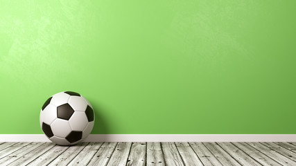 Black and White Soccer Ball with Copyspace