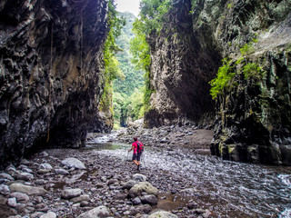 Bras de la Plaine river in La Reunion island