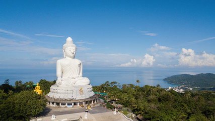 Phuket big Buddha at sunset time from big Buddha viewpoint can see around Phuket island
