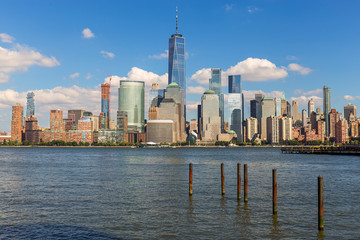 Fototapete - Lower Manhattan Skyline, NYC, USA