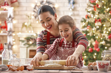 Foto op Canvas Koken cooking Christmas cookies