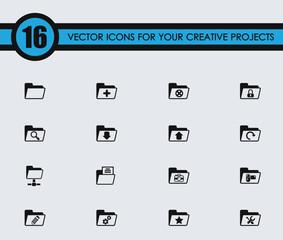folder vector icons for your creative ideas
