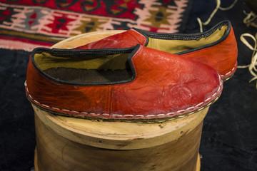 traditional turkish light flat heeled shoe; Turkish sandals
