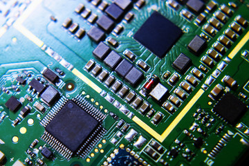 smartphone motherboard. computer parts