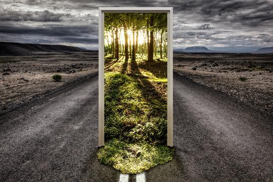 Portal auf der Straße