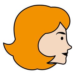 head profile woman avatar character