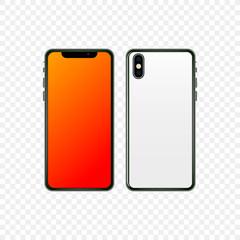 New smartphone design isolated.