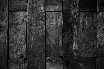 Black wood texture for background.Black lumber texture