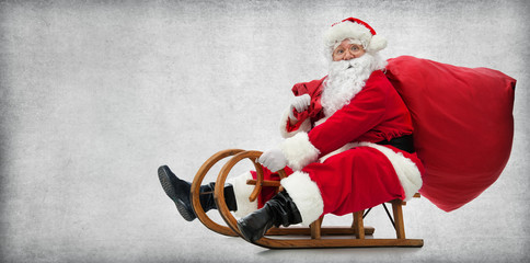 Santa Claus on his sledge