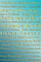 Weihnachten - Hintergrund gold abstrakt mit Textbausteinen