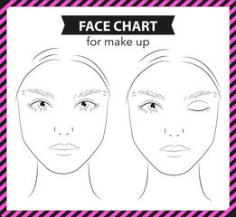 Face Chart for Make Up