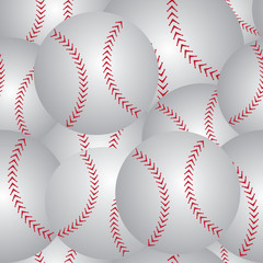 Baseball seamless pattern red and white vector.
