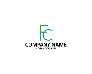fc letter logo