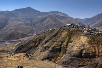 Azerbaijan, Greater Caucasus, Khinalug ( Xinaliq ): Old ancient village on hilltop of beautiful Caucasian mountains in the north of Azerbaijan near Quba