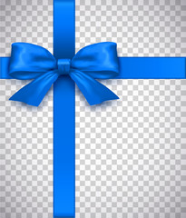 Betiful Realistic Blue Bow