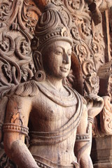 Carving at Sanctuary of Truth Pattaya Thailand
