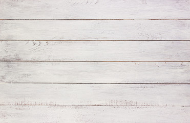 White wooden planks background,template for design, empty board, space for text