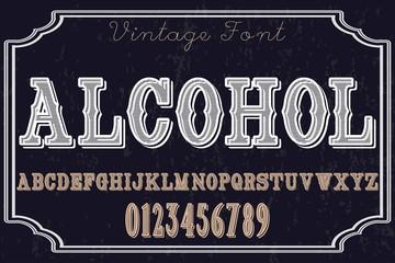 Handwritten calligraphy font named -Typeface, Script, Old style - vintage,vector letters,vintage,labels,illustration