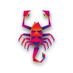 skorpion origami wektor