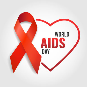 Vector illustration on the theme World Aids Day.